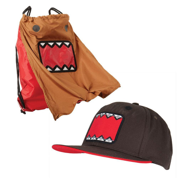Domo - Face Adjustable Baseball Cap And Backsack Combo
