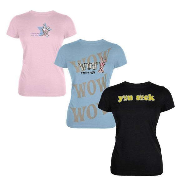 Happy Bunny - Set One 3 Piece Juniors T-Shirt Combo