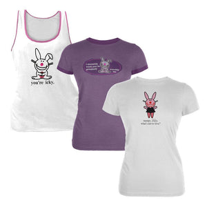Happy Bunny - Set Two 3 Piece Juniors T-Shirt Combo