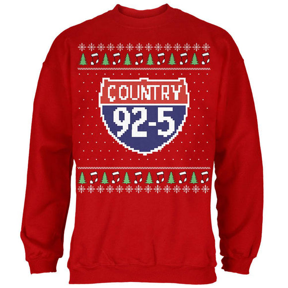 iHeartRadio Country 92-5 Ugly Christmas Sweater Mens Sweatshirt Red