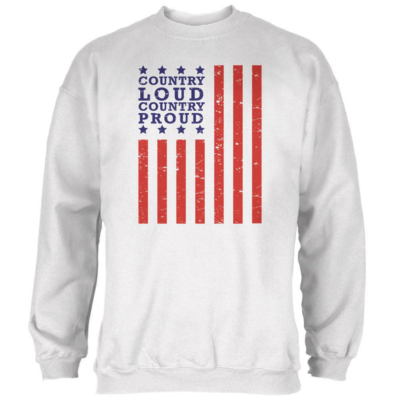 iHeartRadio Country Country 92-5 Loud Country Proud Mens Sweatshirt White