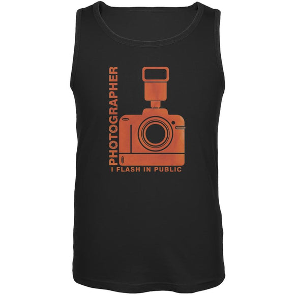Photographer Flash in Public Funny Black Adult Tank Top