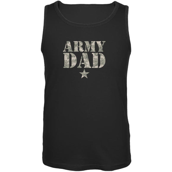 Father's Day Army Dad Black Adult Tank Top
