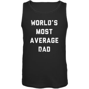 Father's Day World's Most Average Dad Black Adult Tank Top