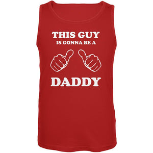 Father's Day This Guy is Gonna Be a Daddy Red Adult Tank Top