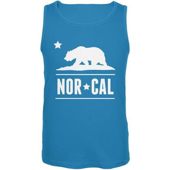 California Republic NorCal Turquoise Adult Tank Top