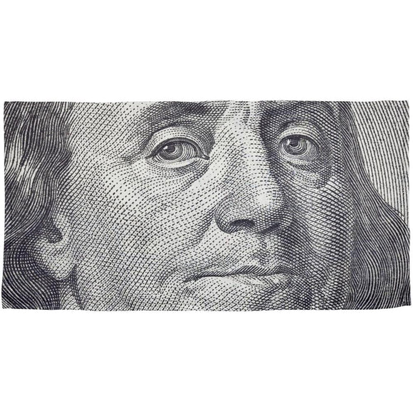 Ben Franklin All Over Plush Beach Towel