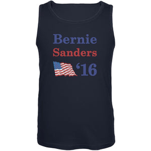 Election 2020 16 Flag Bernie Sanders Navy Adult Tank Top