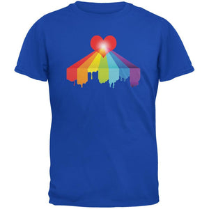 Rainbow Bleeding Heart LGBT Pride Royal Adult T-Shirt