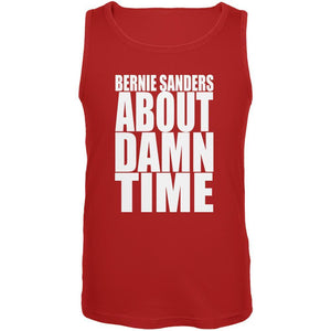 Election 2016 Bernie Sanders About Damn Time Red Adult Tank Top