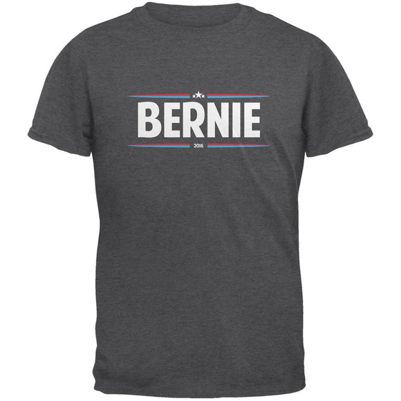 Election 2020 - Bernie Thin Stripes Dark Heather Adult T-Shirt