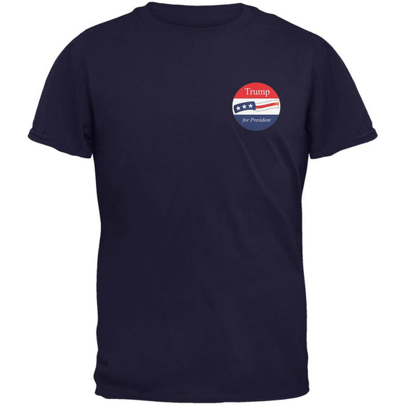 Election 2020 Donald Trump for President Jersey Navy Adult T-Shirt