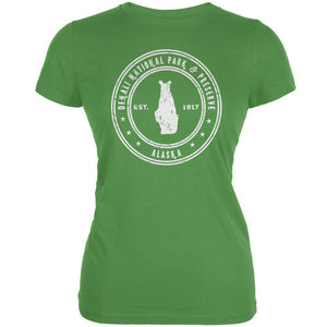 Denali National Park & Preserve Leaf Juniors Soft T-Shirt