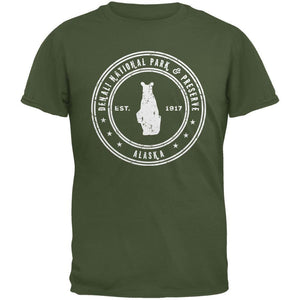Denali National Park & Preserve Military Green Adult T-Shirt