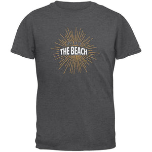 Let's Go To The Beach Vintage Sun Rays Dark Heather Adult T-Shirt