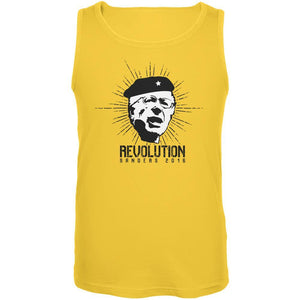 Election 2020 Bernie Sanders Che Guevara Parody Yellow Adult Tank Top