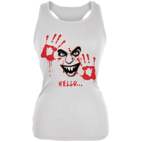 Halloween Hello... White Juniors Soft Tank Top