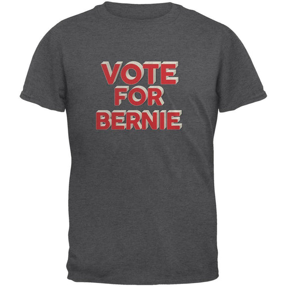 Election 2020 Vote For Bernie 3D Dark Heather Adult T-Shirt