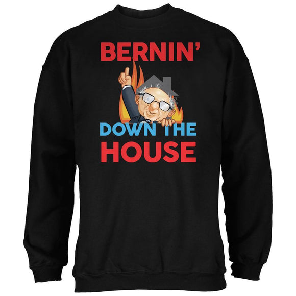 Election 2020 Bernie Bernin' Down The House Black Adult Sweatshirt