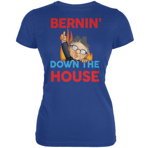Election 2020 Bernie Bernin' Down The House Royal Juniors Soft T-Shirt