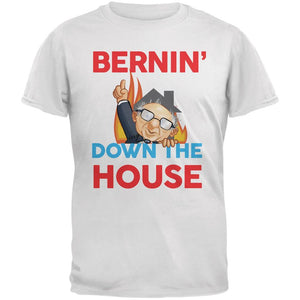 Election 2020 Bernie Bernin' Down The House White Adult T-Shirt