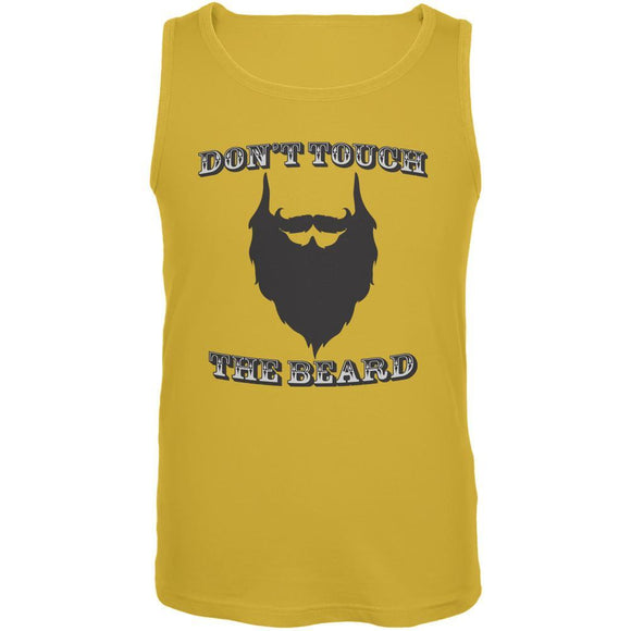 Don't Touch The Beard Yellow Adult Tank Top