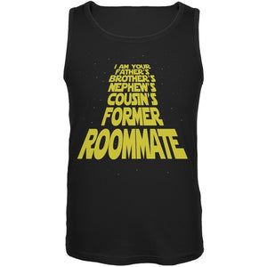I'm Your Fathers Former Roomate Black Adult Tank Top