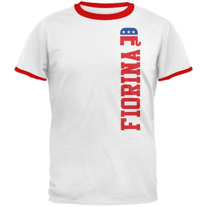 Election 2016 Team Carly Fiorina White-Red Men's Ringer T-Shirt