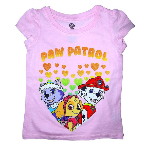 Paw Patrol - Group in Hearts Toddler T-Shirt