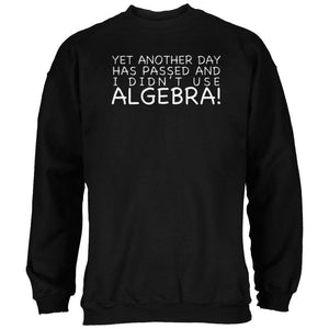 Didn't Use Algebra Today Black Adult Sweatshirt