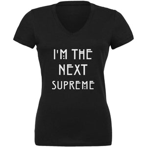 I'm the Next Supreme Black Juniors V-Neck T-Shirt