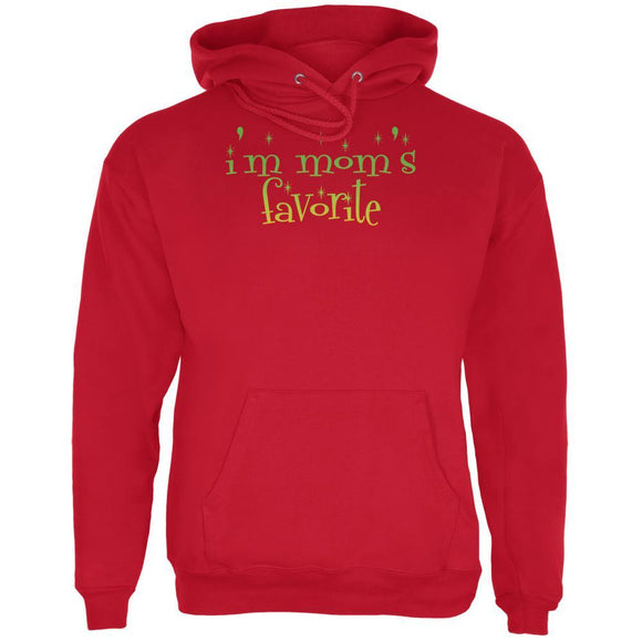 Christmas I'm Mom's Favorite Red Adult Hoodie