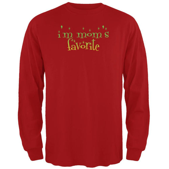 Christmas I'm Mom's Favorite Red Adult Long Sleeve T-Shirt
