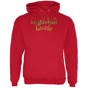 Christmas I'm Grandma's Favorite Red Adult Hoodie
