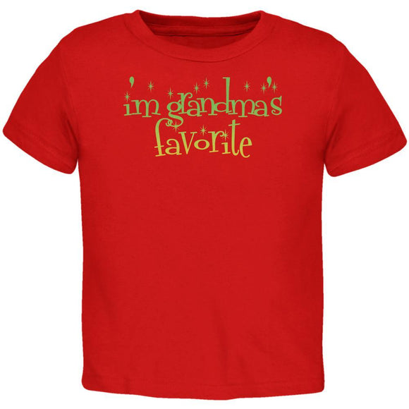 Christmas I'm Grandma's Favorite Red Toddler T-Shirt