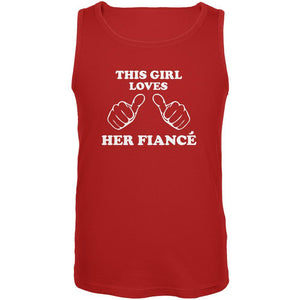 Valentine's Day This Girl Loves Her Fiance Red Adult Tank Top