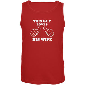 Valentine's Day This Guy Loves His Wife Red Adult Tank Top
