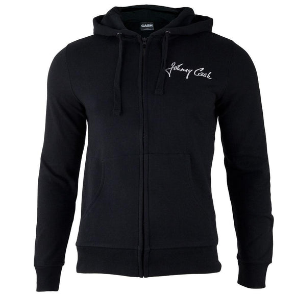Johnny Cash - Block Logo Adult Zip-Up Hoodie