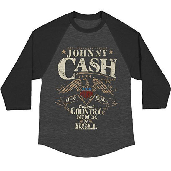 Johnny Cash - Eagle Seal Adult Raglan T-Shirt