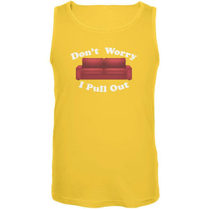 Don't Worry I Pull Out Yellow Adult Tank Top