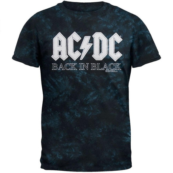 AC/DC - Back In Black Blue Tie Dye T-Shirt