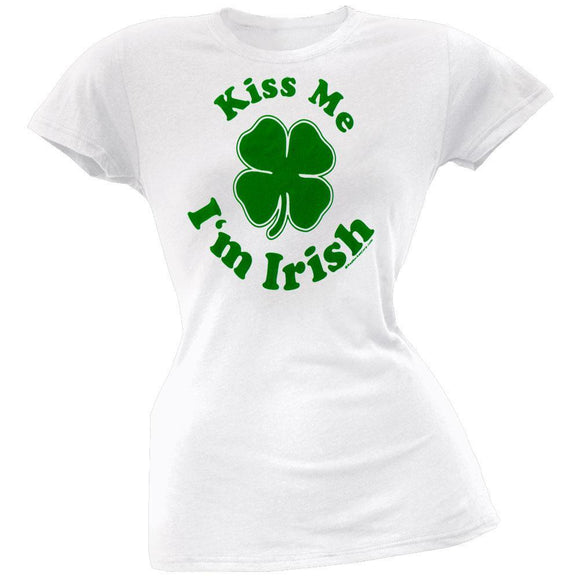 Kiss Me I'm Irish Juniors T-Shirt