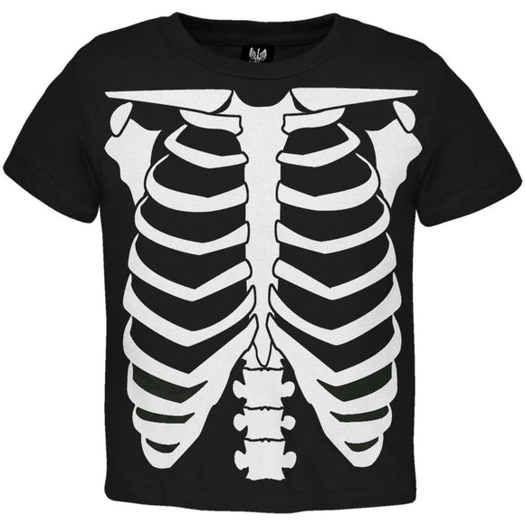 Skeleton Glow In The Dark Costume Toddler T-Shirt