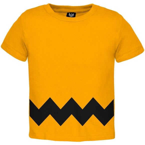 Halloween Yellow Zig Zag Costume Toddler T-shirt