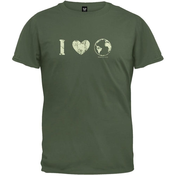 Earth Day - I Heart The Earth Distressed Organic T-Shirt