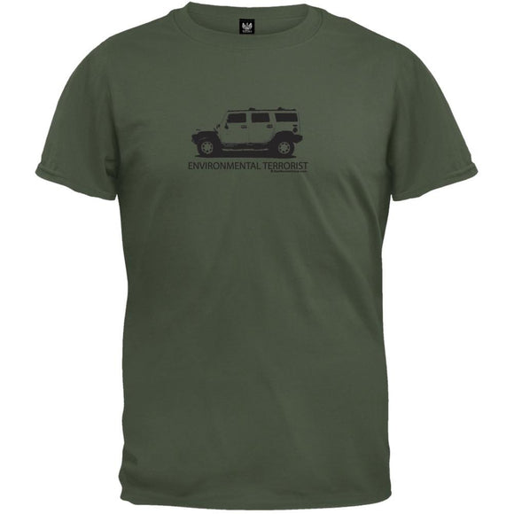 Environmental Terrorist SUV Organic T-Shirt