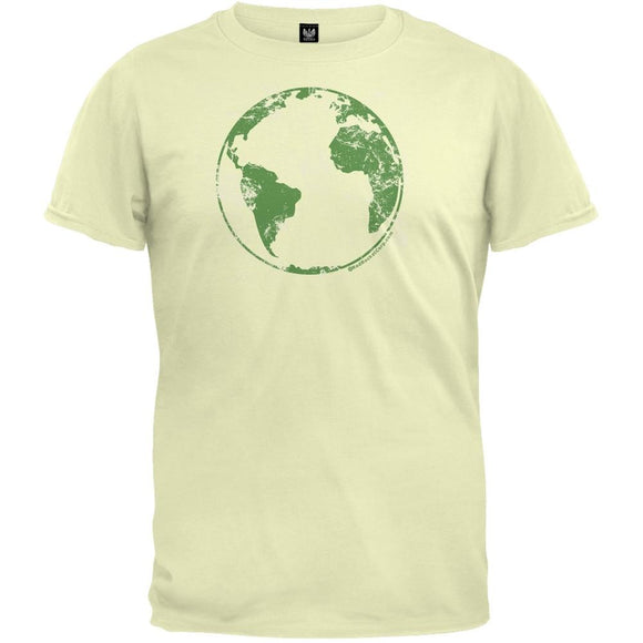 Earth Day - Planet Earth Distressed Organic T-Shirt