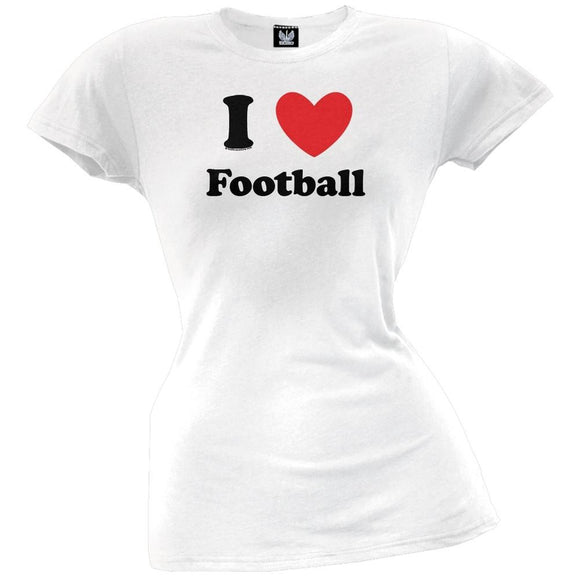I Heart Football Juniors T-Shirt