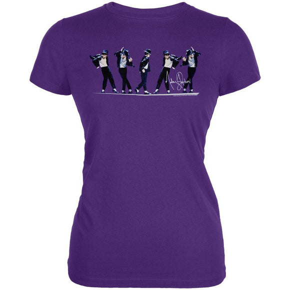 Michael Jackson - Purple Dancer Juniors T-Shirt