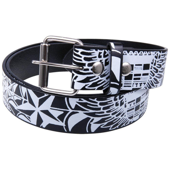 Winged Cadillac Leather Belt